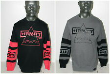 Pink Dolphin POSITIVE FORCE CREWNECK BLACK or HEATHER GREY