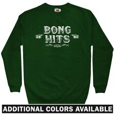 Bong Hits Men's Sweatshirt - Crewneck S-3X - Weed Cannabis Marijuana Smoke Drugs