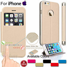 For Apple iPhone 7 / 7 Plus Flip Leather Wallet View Screen Defender Case Cover