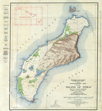 1926 Map of Niihau Kauai County Hawaii