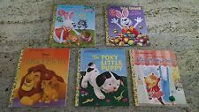 The Little Golden Book 5 Book Lot Hardcover Poky Little Puppy Peter Cottontail