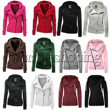 Women Zipper Tops Hoodie Hooded Sweatshirt Coat Jacket Casual Slim Jumper Ladies