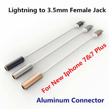 Lightning To 3.5mm Headphone Jack Adapter Cable Metal Connector Fo iPhone 7 Plus
