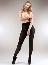 Miss Naughty 100 Denier Blackout Crotchless Opaque Tights Open Crotch Pantyhose