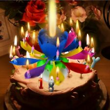 Musical Lotus Flower Happy Birthday Candle Music Candle Party Supplies Hot 1 Pcs