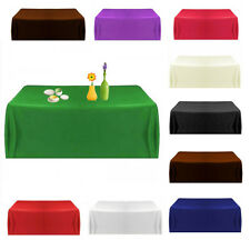 57''/145cm Satin Tablecloth Table Covers for Wedding Party Restaurants Banquet
