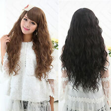 New Fashion Womens Lady Long Hair Wavy Curly Hair Full Wigs Party Cosplay