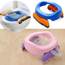 Foldable Portable Travel Potty Chair Toilet Seat For Baby Kids Plastic Chair Fad