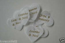 200 PIECES ALL PERSONALISED with YOUR NAMES on Biodegradable TISSUE CONFETTI