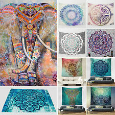 Queen Elephant Mandala Tapestry Indian Wall Hanging Hippie Bedspread Throw Decor