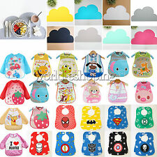 Baby Kids Toddler Boys Girls Bibs Waterproof Saliva Towel Food Feeding Apron Pad