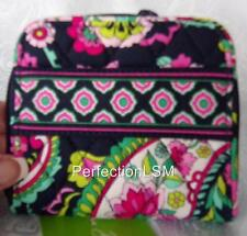 NWT Vera Bradley Compact  Zip Around Wallet in colorful Petal Paisley Pattern!!!