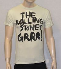"""The Rolling Stones 50th Anniversary """"Grrr""""! Cream T-Shirt Licensed & Official"""