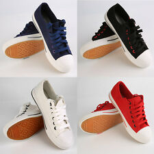 4 Colors Canvas Women Lace-up Side Zipper Help Low Flat Casual Shoes 36-40 P5