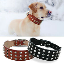 Didog Rivets Studded Genuine Leather Dog Collars for Dogs Rottweiler Labrador