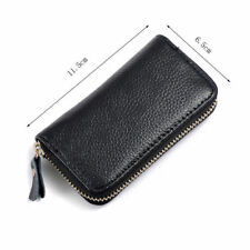 Men's Genuine Cow Leather Purse Car Key Wallets Fashion Women Housekeeper Holder