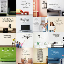DIY Removable Art Vinyl Family Quote Wall Stickers Decal Mural Home Kids Decor