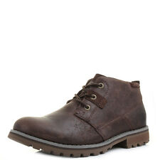 Mens Caterpillar Harold Coach Brown Leather Lace Up Boots Shu Size