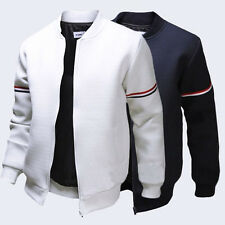 Stylish Mens Casual Slim Fit Baseball Coat Bomber Cotton Jacket Outerwear Tops