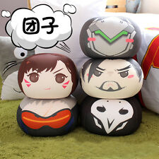 Game Overwatch Soldier 76 Reaper Genji D.va Hanzo Round Plush Doll Stuffed Toys