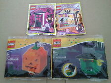 NEW Lego Halloween polybags - Witch hat,Spider,Bat, broom,skull, Trick or treat
