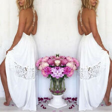 Sexy Lace Cocktail Evening Party Long Maxi Dress Summer Beach Backless Sundress