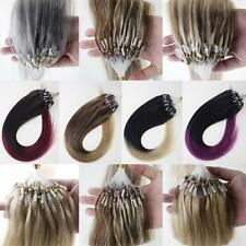 Micro Ring Bead Loop Tip Remy Human Hair Extensions Mixed Ombre T Colors AAAAAA