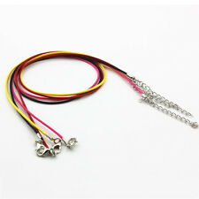 """10pcs Necklace Leather Cord Chain Findings Lobster Clasp 18"""" String Rope Jewelry"""