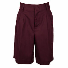 UNIVERSAL BOYS BURGUNDY SHORTS PLEATED FRONT SCHOOL UNIFORM  SIZES 4 -20