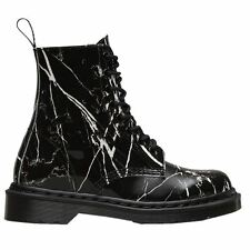Dr.Martens Pascal 8 Eyelet Marble Patent Black Patent Womens Boots