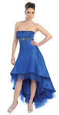 TheDressOutlet Dress Strapless Taffeta Pleated Bodice Plus Size Prom Gown
