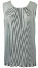 New Ex Per Una Pale Blue Pleated Front Sleeveless Scoop Neck Top Size 12 - 22