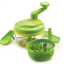 NEW Tupperware Green Quick Chef Pro Food Processor Chop Spin Blend Whisk Mix NIB