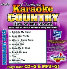 Chartbuster Karaoke: Country Hits February 2012 by Karaoke (CD, Chartbuster Kara
