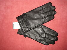 NWT CALVIN KLEIN BELTED LEATHER GLOVES, SIZE LARGE