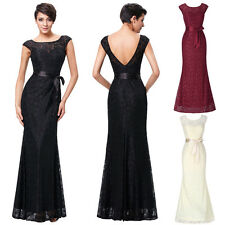 PLUS SIZE Vintage Lace Long Formal COCKTAIL Ball Gown Party Evening Prom Dresses