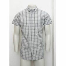 NEW Mens Dior Homme Black/White Check Short Sleeve Shirt GENUINE RRP £235 BNWT