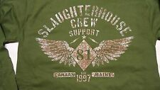 HELLS ANGELS SUPPORT CANAAN MAINE GREEN LONGSLEEVE WING