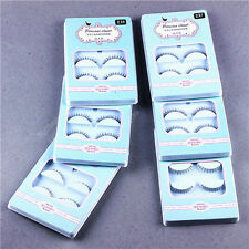 5 Pairs Cross False Eyelashes Makeup Natural Fake Long Thick Eye Lashes 05c