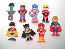 3D ~ U Pick - Superhero Hulk Dash Robin Batman Scrapbook Card Embellishment 1139