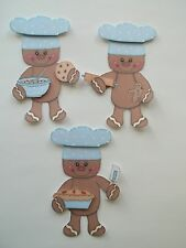 3D - U Pick - Ginger Boy Girl Baking Cookies Scrapbook Card Embellishment 600