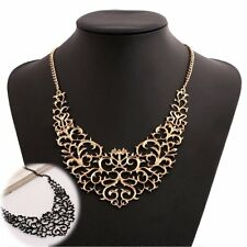 Vintage Women Fashion Pendant Chain Choker Chunky Bib Statement Necklace Jewelry