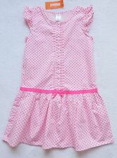NWT Gymboree Girl's Pink Pleated/Button Front Polka Dot Dress Size: 8