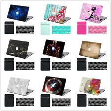 Keyboard Cover +Soft Bag +Hard Rubberized Case Painting Laptop Shell For Macbook