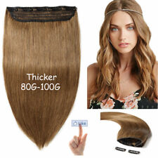 5 Clips On one Piece Clip In Remy Human Hair Extension one piece Full Head 150g
