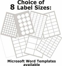 Gloss Clear Transparent Inkjet Labels Round or Rectangle Stickers 5 A4 Sheets