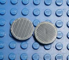 LEGO Decorated Tile, Round 2 x 2 with Grille Fine Mesh Pattern x2PC