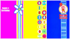 Birthday Greetings Cards 3 Designs Top Quality Free P&P Colourful Cards L@@K