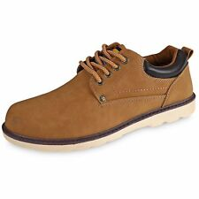 Mens Dress Shoes Oxfords Classic Bucks Derby Suede Lace up Rubber Sole AUS