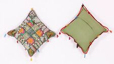 """An Ethnic Embroidery Sequin Patchwork 16x16"""" Throw Pillow Cushion Covers"""
